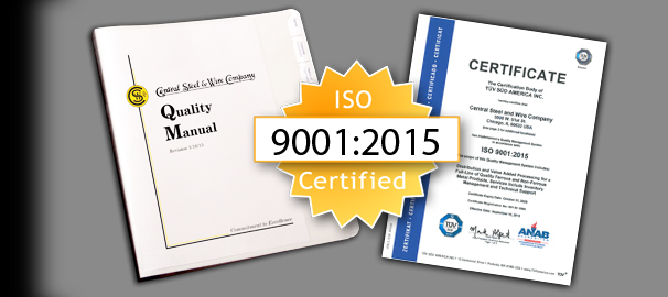 ISO certified steel supply