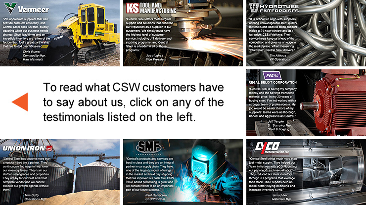 CSW customer testimonials